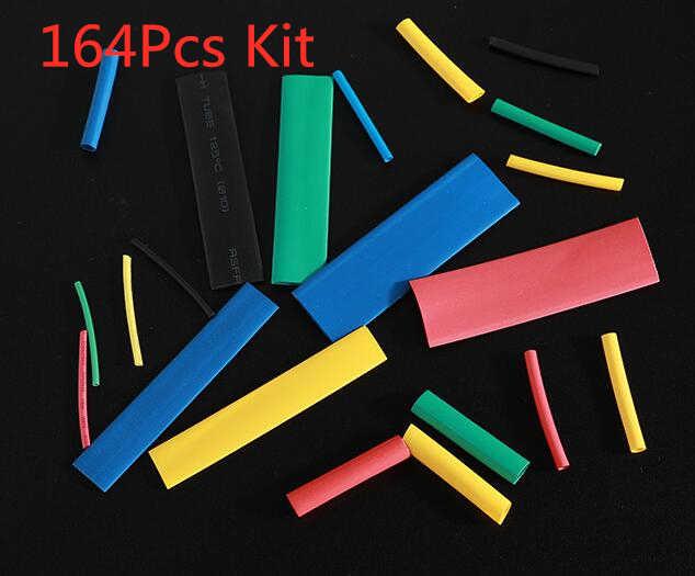 127/140/328/530 Adet Karışık poliolefin ısıyla daralan kablo ucu Boru Boru Kablo Kollu Sarma Tel Seti 8 Boyutu Çok Renkli /siyah