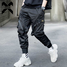 11 BYBB'S DARK Mens Multi-pocket Ribbons Design Harem Pant Men Streetwear Punk Hip Hop Trousers Joggers Male Dancing Pant WA144