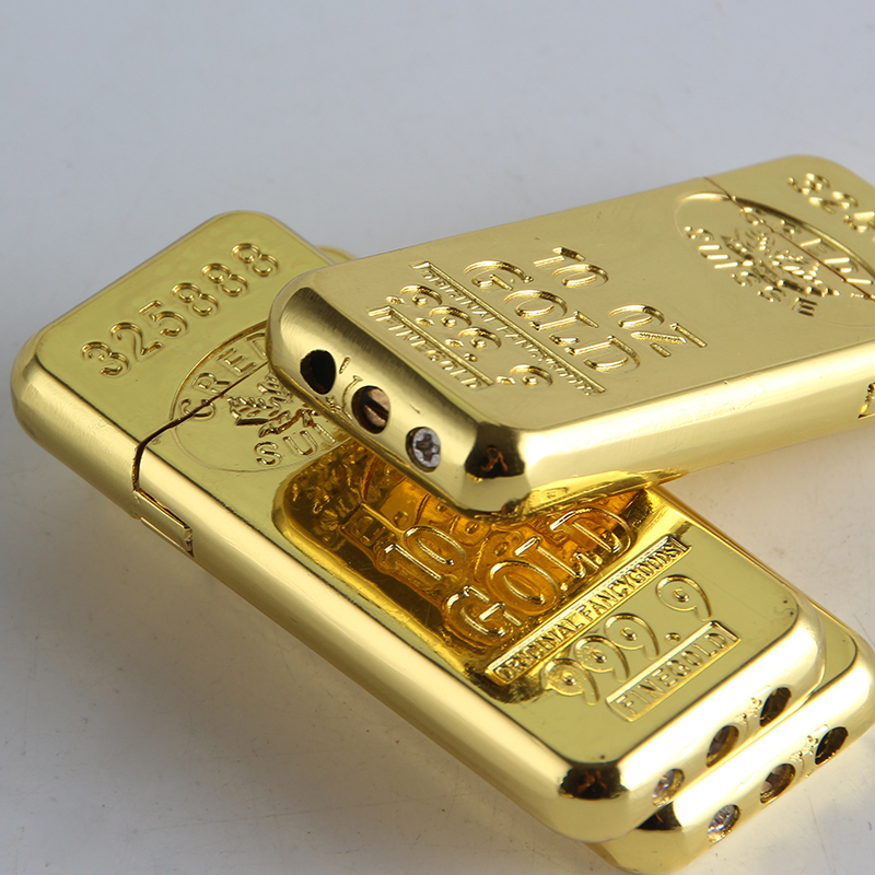 Gold Bar Shape Butane Gas Lighters