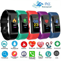 MotionFit 115 Plus Smart Armband Bluetooth-kompatibel Smart Uhr Herz Rate Monitor Fitness Tracker Armband Wasserdicht