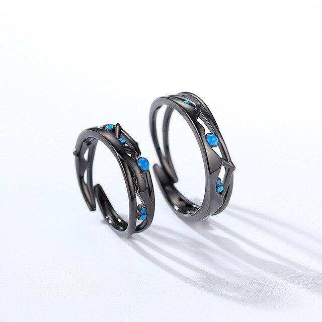Фото leouerry milky way яркие черные парные кольца оригинал 925 пробы цена