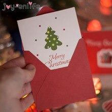 12 шт. веселые рождественские мини поздравительные открытки Детские новогодние подарочные открытки Natal Navidad рождественские украшения открытки