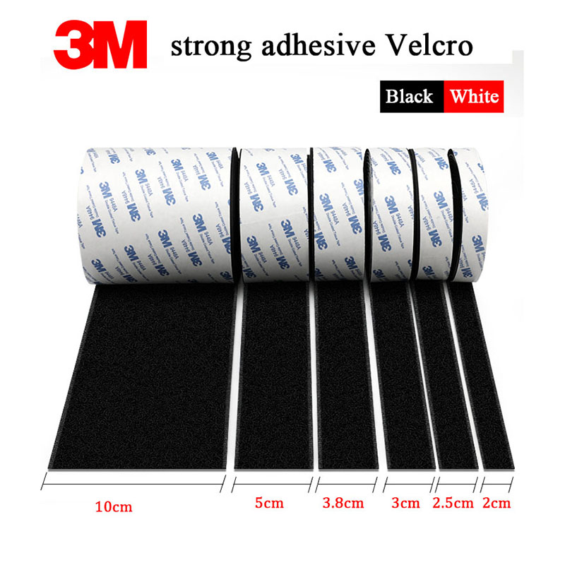 5m / pair of strong self-adhesive hook and loop buckle strap Velcro sticker Velcro fastener strap 20 / 25 / 30/38 / 50 / 100mm