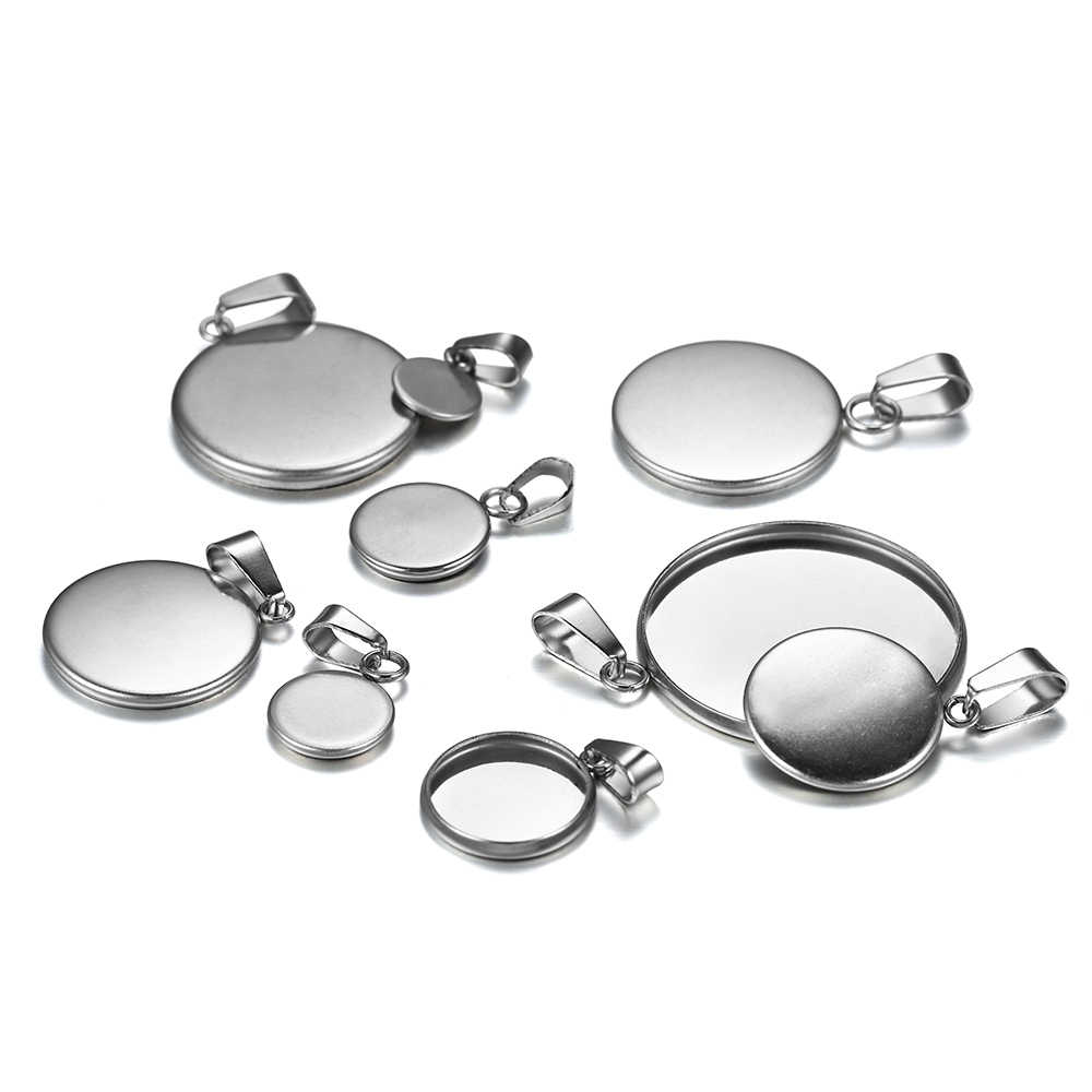 10pcslot Setting Antique silver plated Classic Style oval Base Setting Charms Pendant DIY supplies 16mm