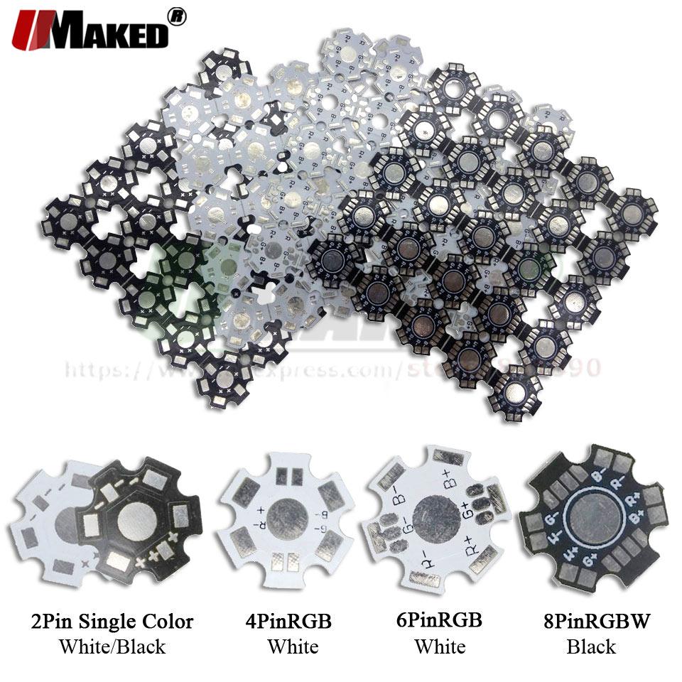 LED PCB Board HeatSink Aluminum Base Plate Substrate 20mm Star RGB RGBW DIY Flashlight Heatsink For 1 3 5 W Watt High Power LEDs