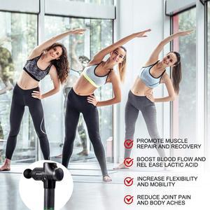 Image 5 - СВЕТОДИОДНЫЙ беспроводной массажный пистолет, перезаряжаемый мышечный Стимулятор, массажер для глубоких тканей, релаксация тела, коррекция фигуры, облегчение боли