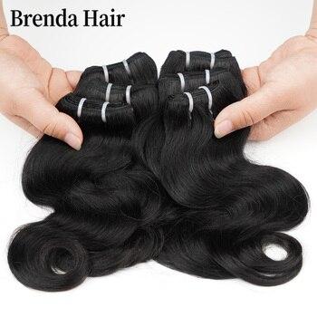 Body Wave Hair Bundles 6 Pcs/Lot 190g/Lot Brazilian Natural Black Human Extension Remy