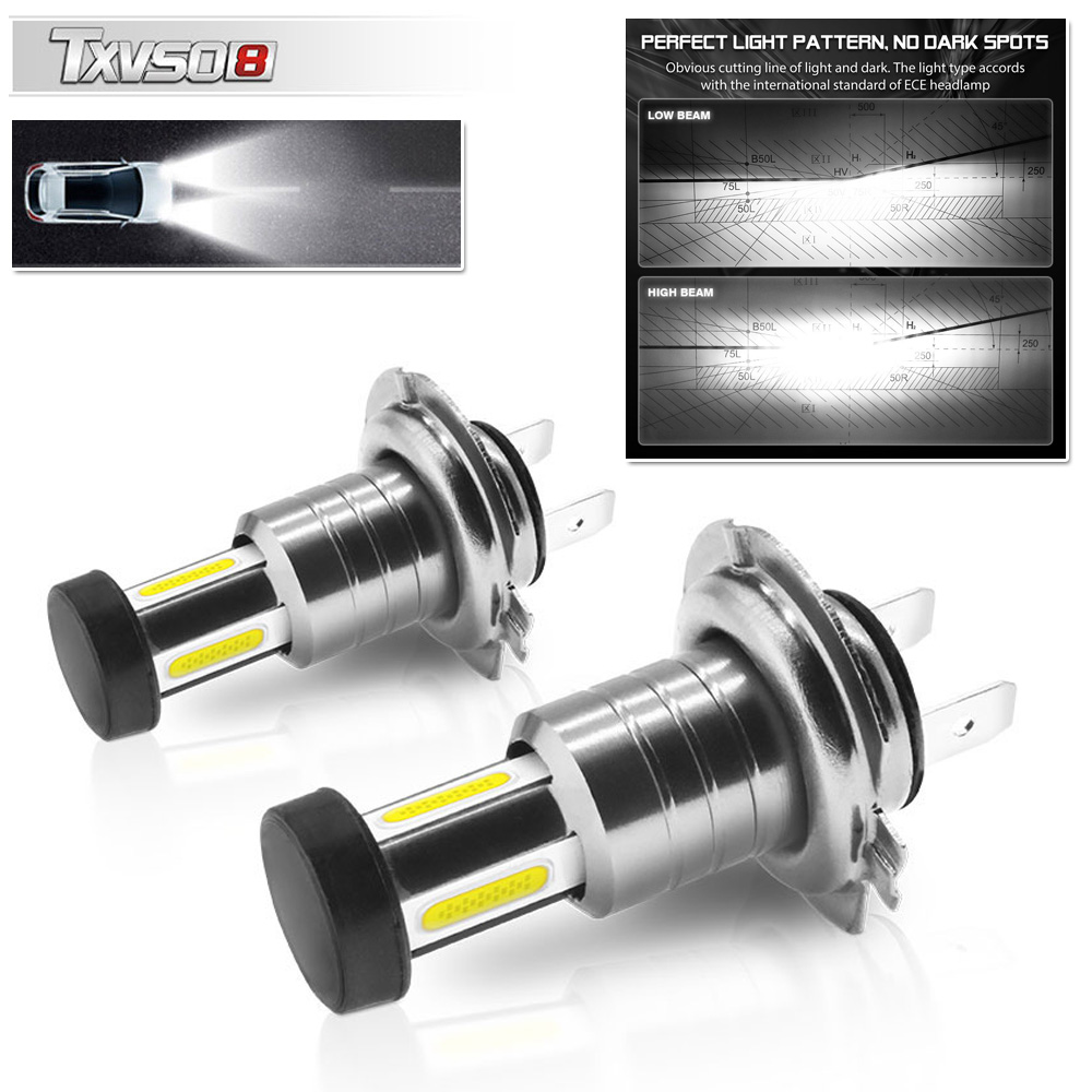 DC9V-32V (12-24V) 110W <font><b>30000LM</b></font> <font><b>H7</b></font> LED Car Headlight Conversion Kit Bulb High/Low Beam 6000K CAR-STYLING Accessories image
