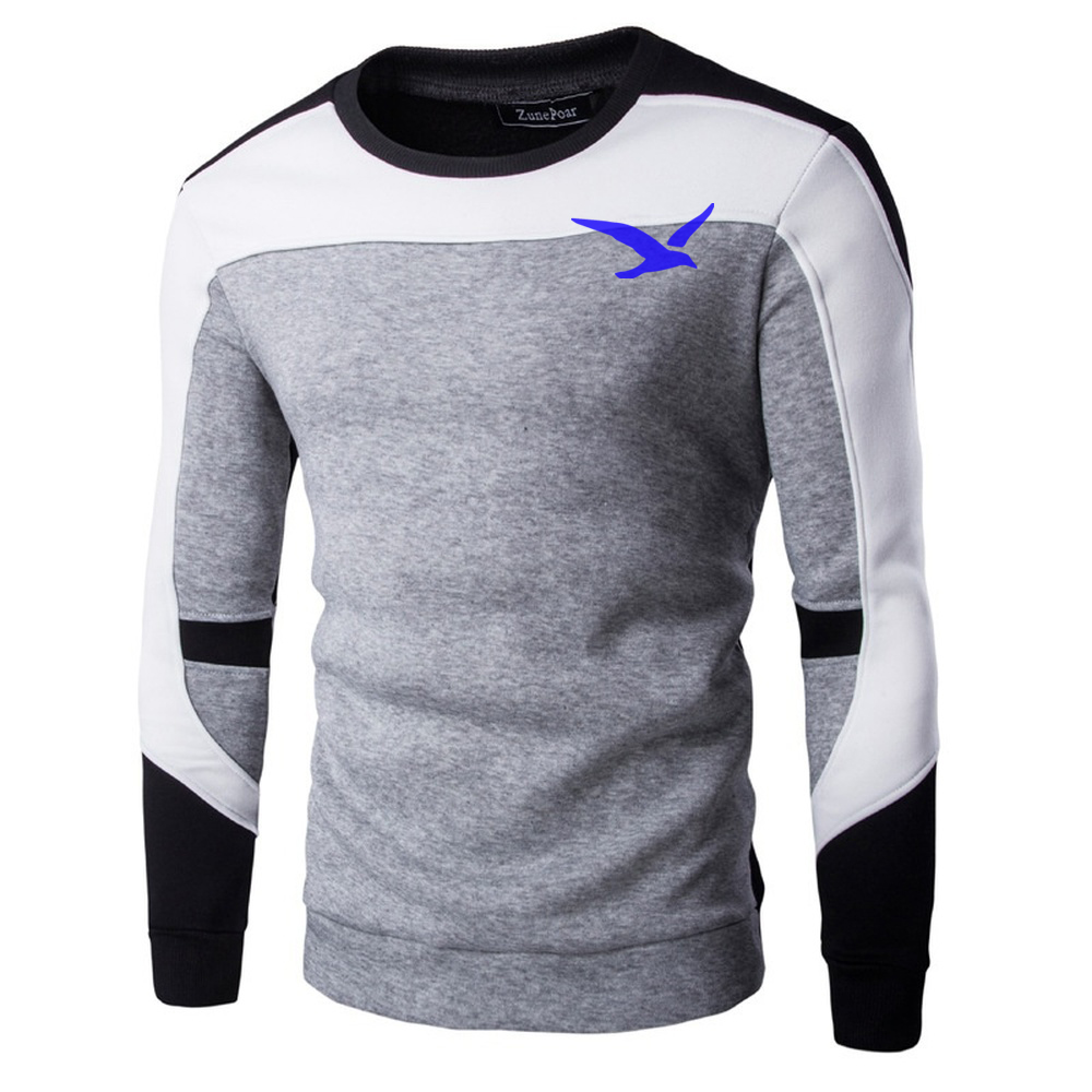 ZOGAA 2019 Sweaters Men New yellow Seagull Printed Casual O-Neck Slim Cotton Knitted Men Sweaters Pullovers Men Brand Clothing