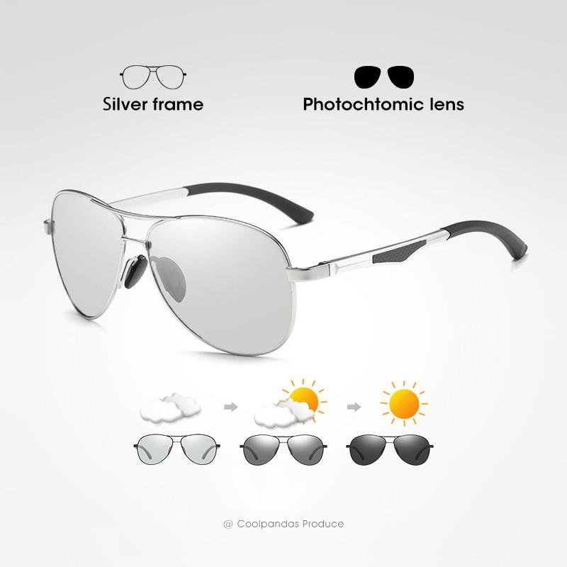 2020 Aviation Driving Photochromic Sunglasses Men Polarized Glasses Women Day Night Vision Driver Eyewear UV400 zonnebril heren 8