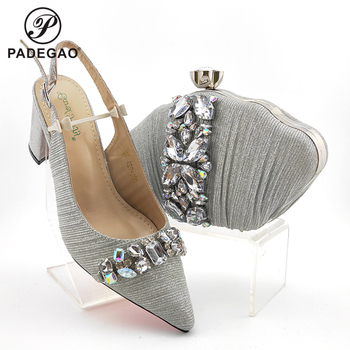 2020 Summer New Arrivals African Women Shoes and Bag Italian Lady Shoes and Bag to Math with Platform Sandals for Wedding