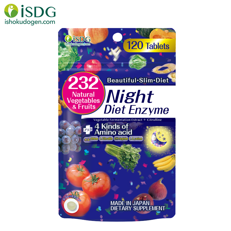 ISDG Weight Loss Products Fruit Vegetable Composite Diet Pills Chia Seeds Burns Fat Decreased Appetite Slimming Night Enzyme