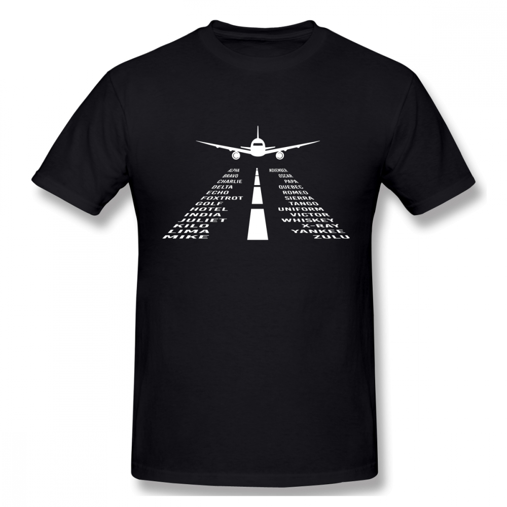 Novelty Airplane Phonetic Alphabet Pilot Gift T Shirt Fashionable Streetwear T Shirt Organic Cotton Camiseta