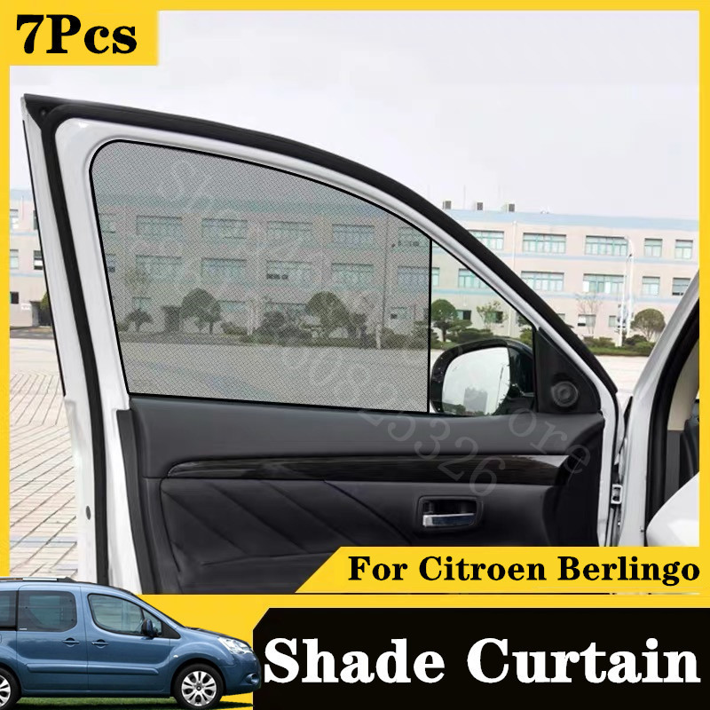 For Citroens 2015-2020 Berlingo Mountain Vibe Concept Card Type Magnetic Car Curtain Sun Shade Car Window Shade Car Styling