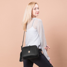 купить brand small shoulder bag for women messenger bags ladies retro PU leather handbag purse with tassels female crossbody bag дешево