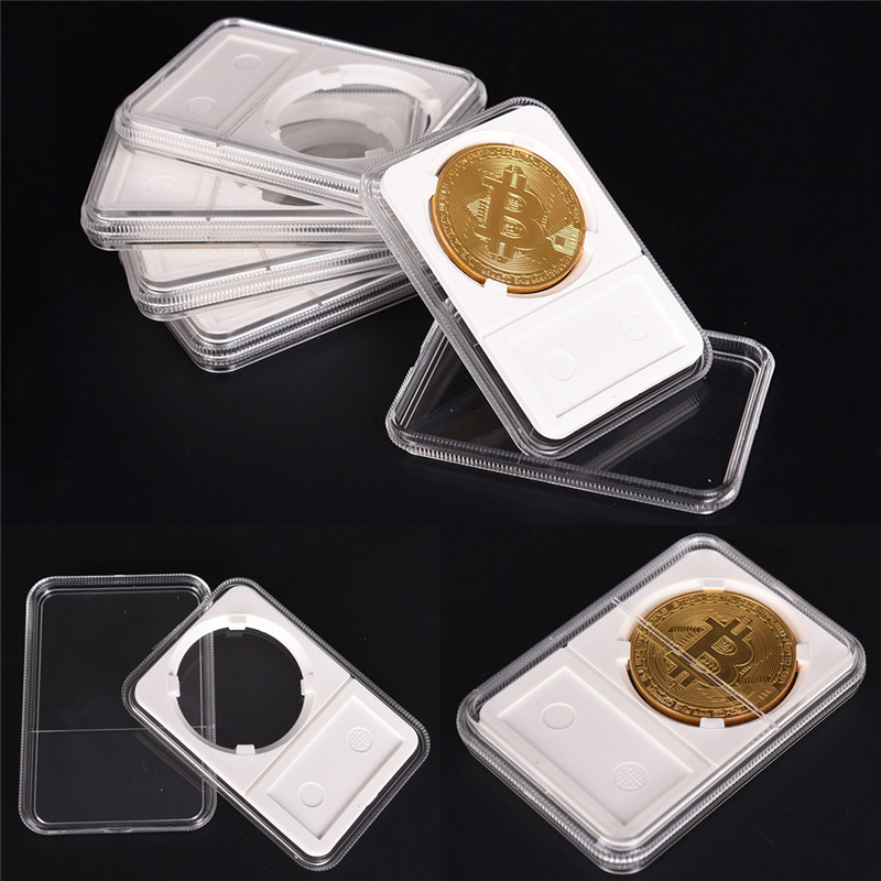 New Coin Storage Box Case Protector PCCB Protector NGC PCGS Grade Collection Box High Quality 40mm
