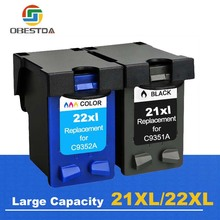 Obestda 21XL 22XL Refill Ink Cartridge Replacement for hp 21 22 XL for Deskjet 3910 3920