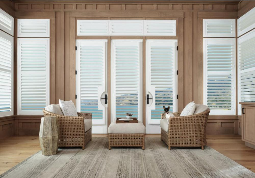 Custom Basswood Plantation Shutters Wooden Blinds Solid Wood Shutter Louvers PS294