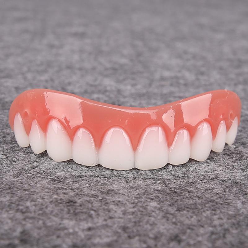1 шт. верхний искусственных зубов, силиконовый поддельный зубы моделирование подтяжки отбеливающая щетка для отбеливания зубов средство ги...