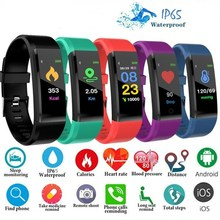 115Plus Sport Smart Horloge Fitness Tracker Gezondheid Hartslag Bloeddruk Stappenteller Mannen Smart Armband Waterdicht Polsbandje