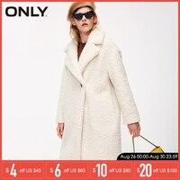 ONLY Autumn winter jacket women Faux Fur Coat Casual Overcoat   118322512