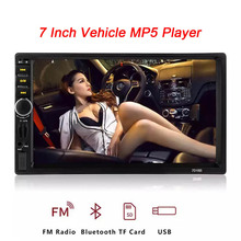 Autoradio 2 Din Car Radio HD 7 Inch Mirrorlink Android Player Touch Screen Bluetooth Mp5 Audio 7018B