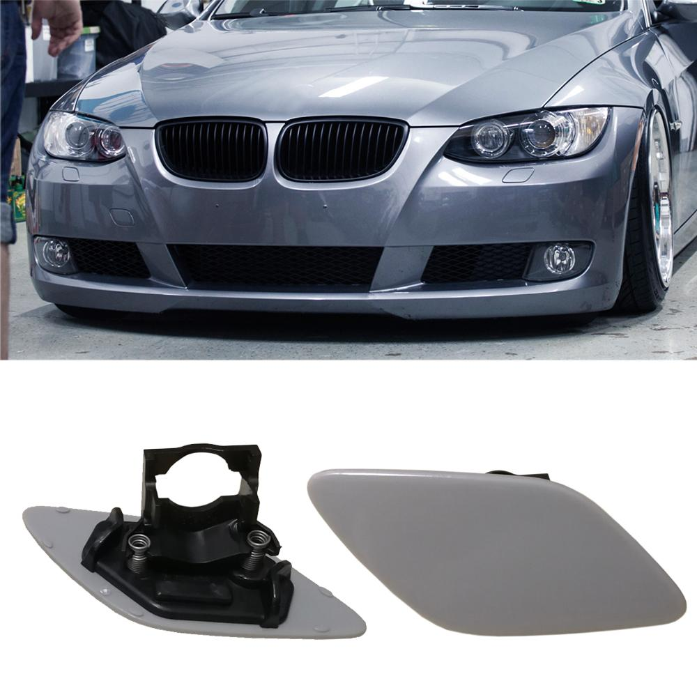 For BMW 3-Series E92 E93 Coupe Headlight Washer Cover Cap Lamp Flap  Bumper Trim