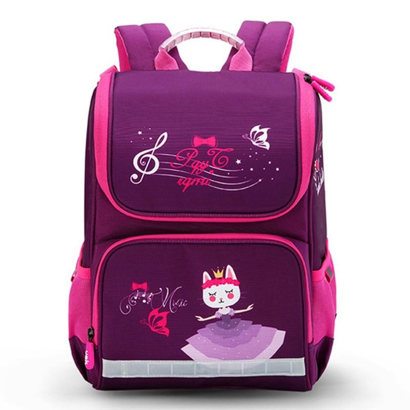 New Fashion Cartoon School Bags Backpack for Girls Boys Bear Cat Design Children Orthopedic Backpack Mochila Infantil Grade 1-5