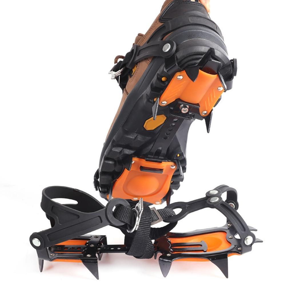 1 Pair 10 Studs Anti-Slip Snow Ice Climbing Winter Shoes Spikes Boot Snow Gripper Ice Cleats Spikes Crampons Shoes Cover