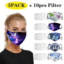 5 pçs máscara 10 pçs filtrar adulto máscaras de rosto para proteção contra poeira anti máscara facial lavável pm2.5 máscara de rosto máscara de máscara de rosto máscara de máscara de máscara de rosto mascarilla 2020