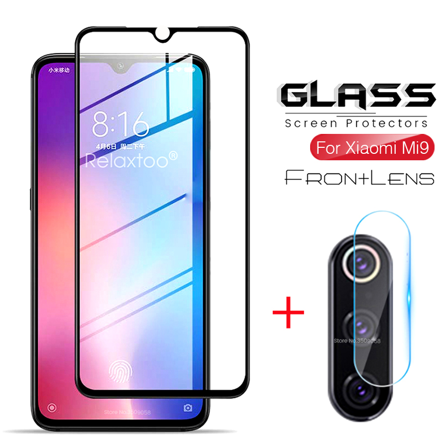 2in1 protective glass for <font><b>xiaomi</b></font> <font><b>mi9</b></font> lite safe glasses <font><b>camera</b></font> lens film screen <font><b>protector</b></font> on xiomi xaomi xiami mi 9 se 9se mi9se image