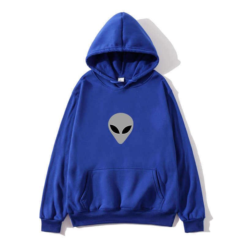 2020 alien מודפס מוצק צבע נשים הסווטשרט של גברים של loose ארוך שרוול גדול גודל סלעית סווטשירט חמוד Harajuku סתיו סוודרים