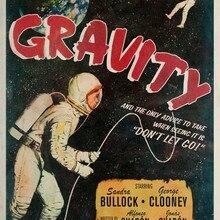 Gravity Outer Space Thrill sci-fi película Vintage cartel retro de Kraft lienzo pintura DIY pegatinas de pared hogar Bar carteles de decoración