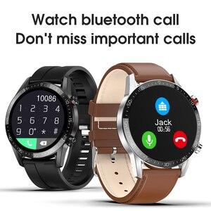 "Image 2 - חדש L13 חכם שעון גברים IP68 עמיד למים אק""ג PPG Bluetooth שיחת לחץ דם קצב לב כושר גשש ספורט Smartwatch"
