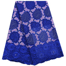 Men 2019 African Swiss Voile Lace In Switzerland High Quality Lace Swiss Cotton Lace Fabric With Stones For Daily Dresses F1771