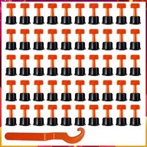 Image 1 - Dropship 100Pcs Flache Keramik Boden Wand Bau Werkzeuge Reusable Fliesen Nivellierung System Kittile Nivellierung System Kit Für Fliesen
