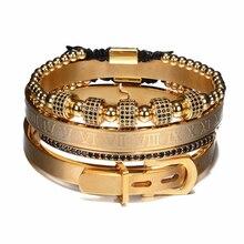 4pcs/Set Titanium Steel Bracelet for Men