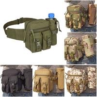 Sac de Camouflage tactique polyvalent pour bouilloire, sac de taille pour bouteille d'eau de sport, poche en toile unisexe pour voyage et course à pied