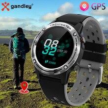 Gps relógio inteligente das mulheres dos homens 2021 gandley m6c atividade de fitness rastreador freqüência cardíaca à prova dwaterproof água esporte smartwatch para android ios