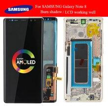 Super amoled 6.3 wyświetlacz z palącym się cieniem LCD do samsunga Galaxy Note8 N9500 N950F N900D N900DS LCD z ekranem dotykowym Digitizer