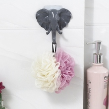 Creative Elephant Head Nose Hook Keys Bags Sticky Holder Clothes Coat Cap Racks Hanger Home Wall Door Decor Hooks Bathroom Usage [ fly eagle ] creative white wooden wall hanger racks with 4 hooks love hook hanging hanger for keys jewelry towelfree shipping
