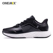 Onemix men running shoes air cushion leather vamp trail trainers