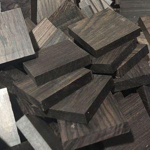 Image 5 - 5pcs lot Africano Ebano rotondo fette di pila di legno maniglia parti di artigianato in legno