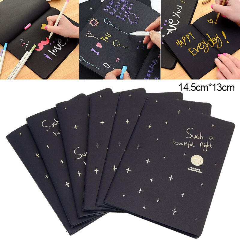 60 Page New Sketchbook Diary For Drawing Painting Office Notebook Gift Sketch Soft Black Graffiti Supply Cover Book Paper S S3O1