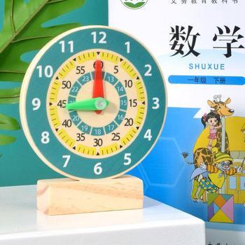 Montessori wczesna edukacja zegar dziecięcy pomoc dydaktyczna drewniany zegar uczeń matematyka podręcznik pomoc dydaktyczna s zegar zabawkowy Model tanie i dobre opinie YOQIDOLL CN (pochodzenie) none 2-4 lata 12138 Zwierzęta i Natura