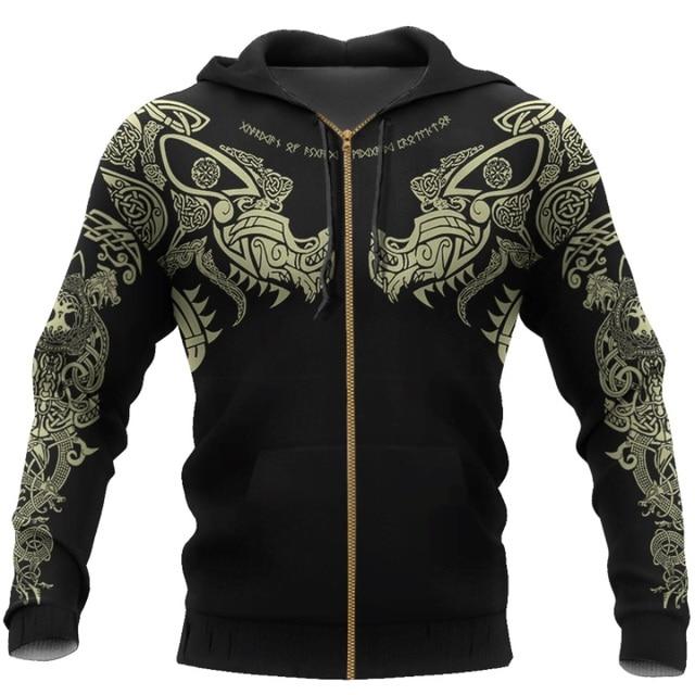 Viking Tattoo 3D Printed Men hoodie 3