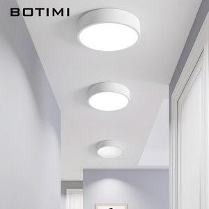 Image 4 - Botimi 220V Led Plafond Verlichting Met Ronde Metalen Lampenkap Voor Woonkamer Moderne Opbouw Plafond Licht Hout Slaapkamer lamp