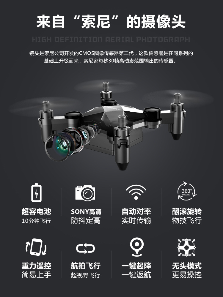 With Aerial Photography Foldable VR High-definition Mobile Phone Mini Small