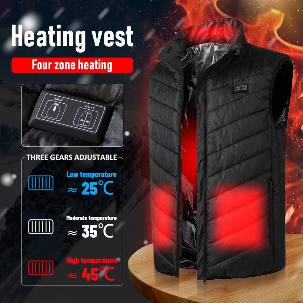 Купить 4 зоны нагрева жилетка usb зарядки термальность изоляции отопление