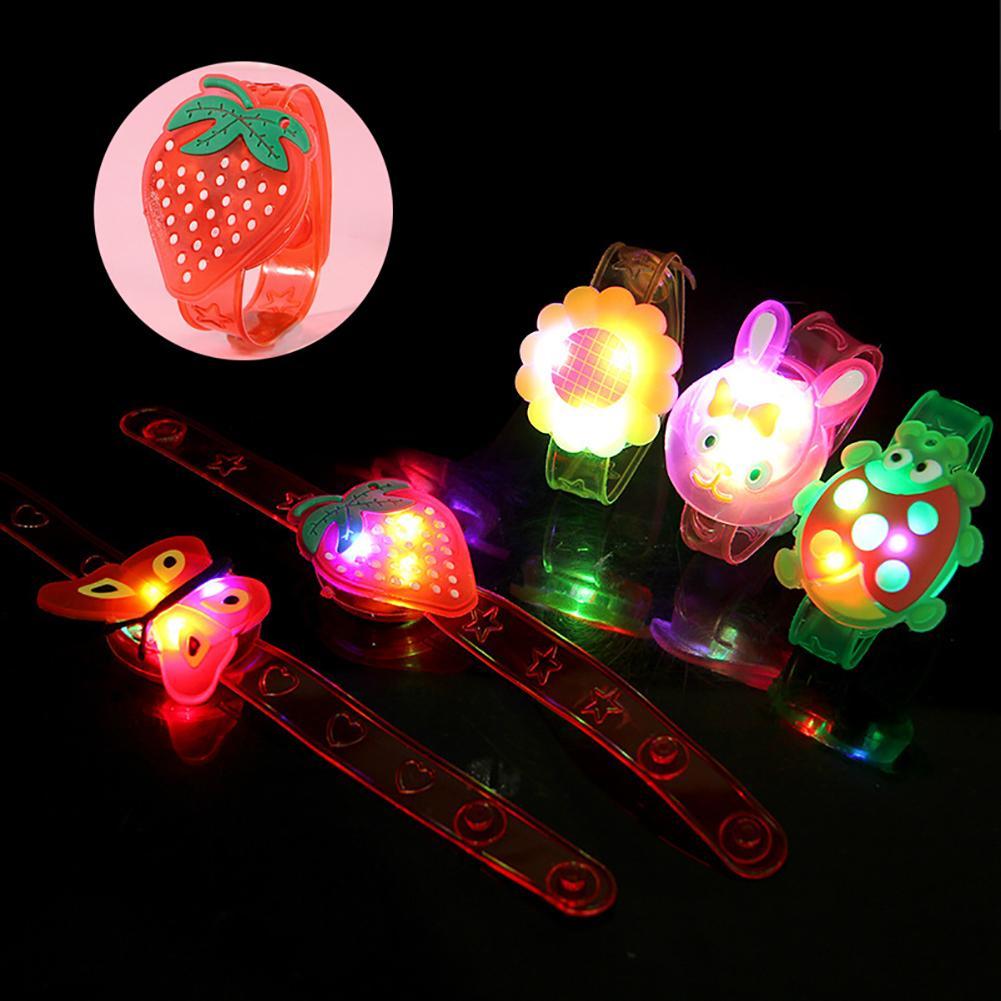 1Pc Creative Kids Light Up Flower Animal Pattern LED Bracelet Toy Party Favors Bracelet Luminous Toys For Children